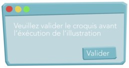 illustration vectorielle pop up validation